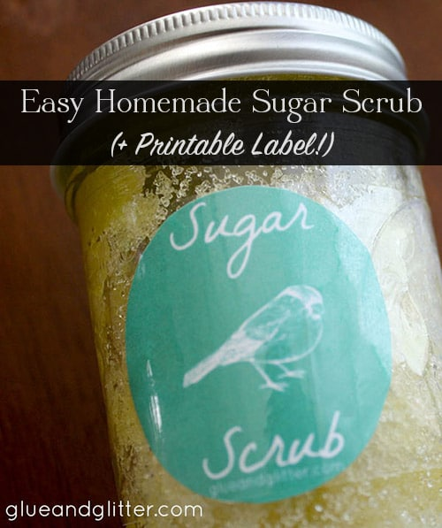 You only need 3 ingredients and a few basic craft supplies to make Homemade Sugar Scrub with whatever scent you like. Get the recipe, plus snag a free printable label for your scrub.