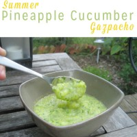 Summer Cucumber and Pineapple Gazpacho - Fresh pineapple and seasonal cucumber make this summer pineapple gazpacho super refreshing.