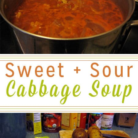 This sweet and sour cabbage soup is one of my childhood favorites. On my dad's last visit, he cooked us a huge batch while I documented the recipe!