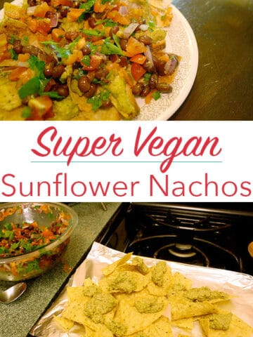Did you know that you can make vegan cheese from sunflower seeds? You can! And it's so good in these super vegan nachos.