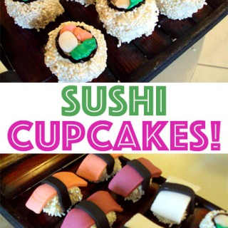 Sushi Cupcakes! My little sister is a genius!