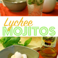 Lychee mojitos are super refreshing. Perfect for porch or poolside sipping!