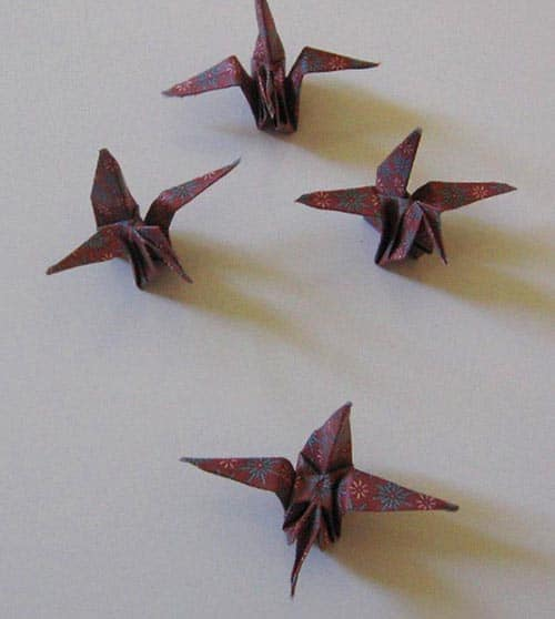 Make A Paper Crane Mobile For Your Desk