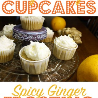 Orange Ginger Cupcakes with Spicy Ginger Frosting