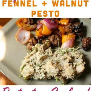 Fennel and Walnut Vegan Pesto Potato Salad