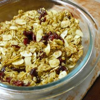 Almond Cranberry Maple Vegan Granola Recipe