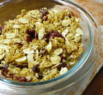 This is an easy vegan granola recipe that you can mix and match to create all kinds of fun flavor combinations.