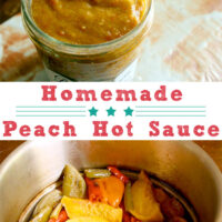 Peach hot sauce is such a summery treat. Use it like you'd use any other hot sauce.