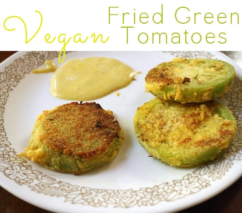 These vegan fried green tomatoes are just as crispy and decadent as their conventional counterparts.