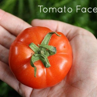 All Natural Tomato Scrub for Healthy Skin