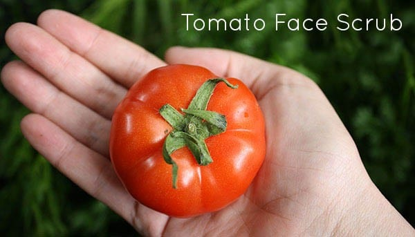 Homemade Tomato Face Scrub (video!)