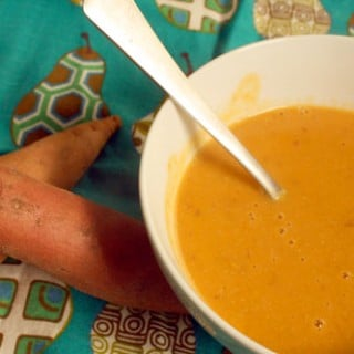 Gingered Coconut-Sweet Potato Soup