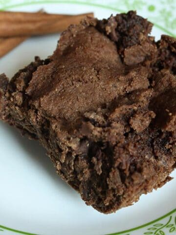 Fudgy Vegan Mexican Hot Chocolate-Style Brownies