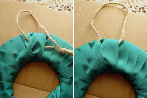 fabric wreath back