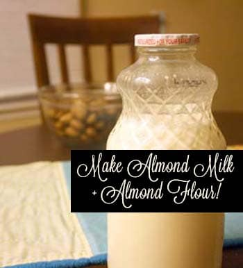 Make homemade almond milk, and use the leftover meal to make almond flour!