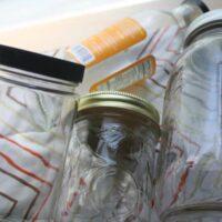 how to deodorize glass jars