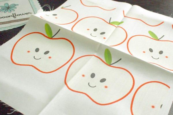 happy apple fabric
