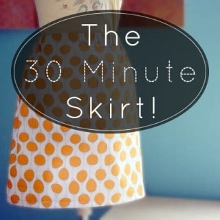 How to Make a Skirt in 30 Minutes + Awesome Organic Fabric Resource