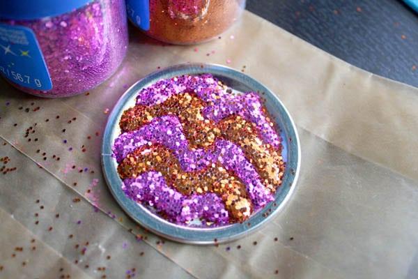 glitter medallion