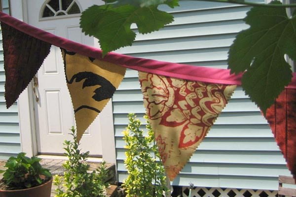 upcycled fabric bunting