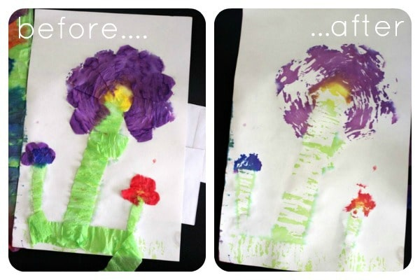 Use Old Party Decorations to Make Beautiful Watercolor Paintings