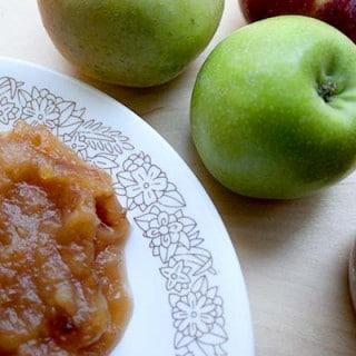 Brown Sugar Crock Pot Applesauce