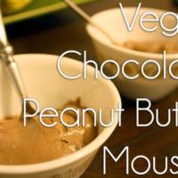 vegan chocolate peanut butter mousse