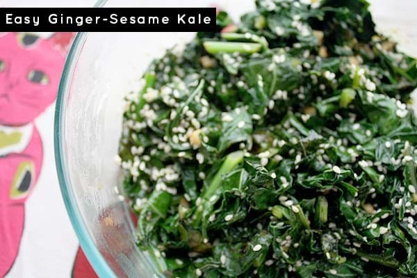 It's kale season! Yay! Honestly, I could eat kale every single day, and this easy gingered kale recipe is a frequent star in our kitchen.