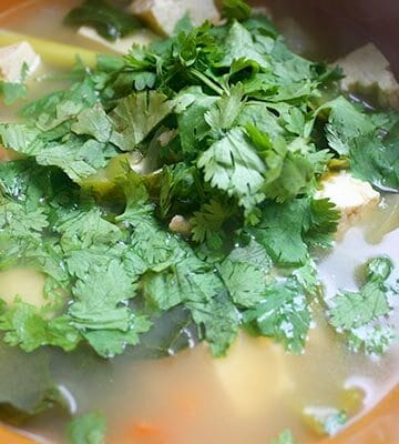 kale tofu lemongrass soup