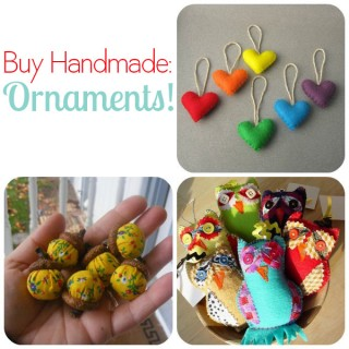 Buy Handmade: Ornaments!