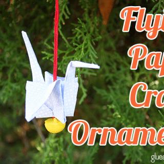 Make a Paper Crane Ornament out of Junk Mail