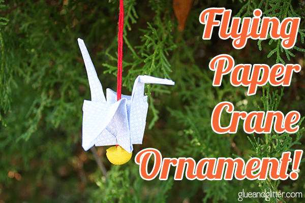 Make this DIY paper crane ornament for your own tree or as a hostess gift this Christmas!