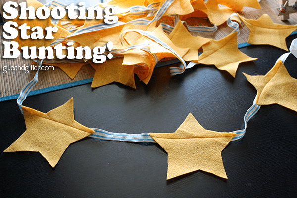 Make shooting star bunting - includes a FREE printable template!