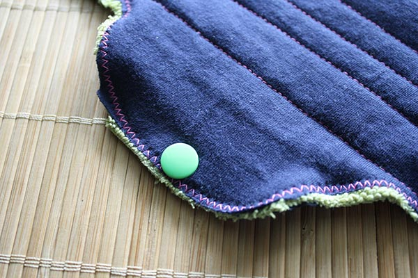 how to make cloth pads snaps
