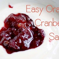 This orange cranberry sauce was always a staple at holiday meals when I was a kid, and this year I grilled my pops for the recipe!