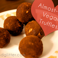 These almost-raw vegan truffles are a quick dessert that you could almost classify as healthy!