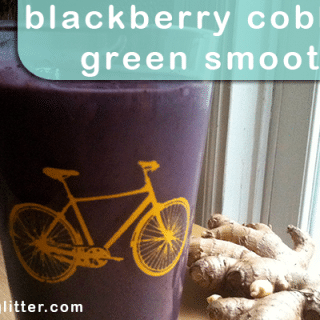 Blackberry Cobbler Green Smoothie: Green Smoothie Challenge Check-In #1