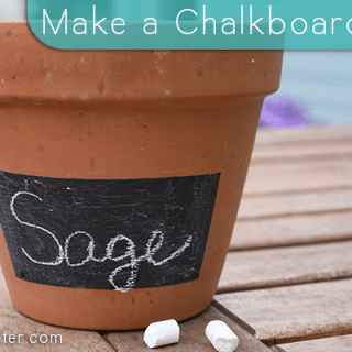 Make a Chalkboard Pot for Your Container Garden
