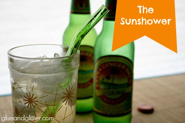 The Sunshower cocktail is my spin on a Dark and Stormy, and it's my new favorite cocktail!