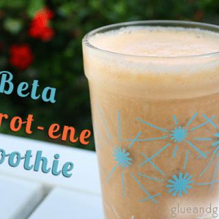 Beta Carotene Green Smoothie (a carrot ginger smoothie)