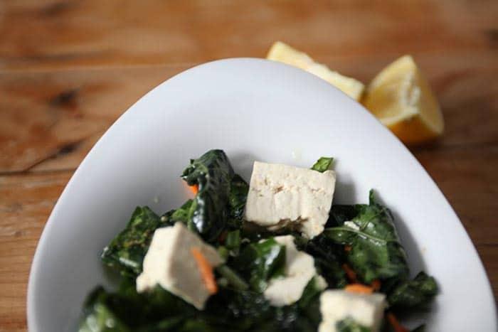 ginger kale tofu salad