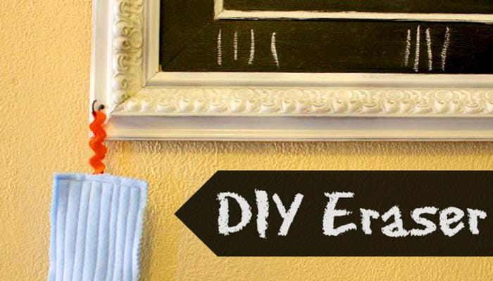 Here's how to make an eraser for your homemade chalkboard!