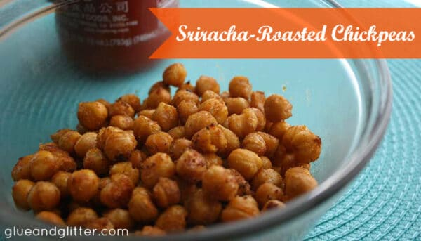 Spicy, crunchy sriracha-roasted chickpeas are perfect for snacking or salad-topping.