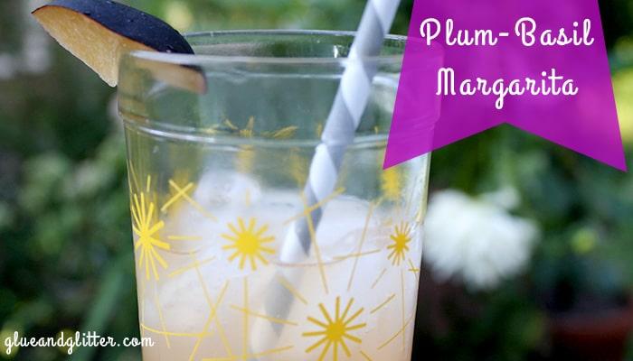 basil plum tequila margarita
