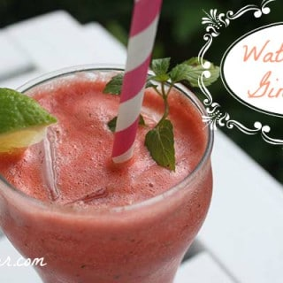 Watermelon Gin Fizz with Mint
