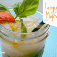 Instead of mint, this fall-oriented tangerine crush mojito focuses on seasonal citrus and rich basil.