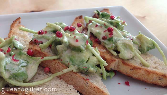 vegan restaurant green bar kitchen avocado toast
