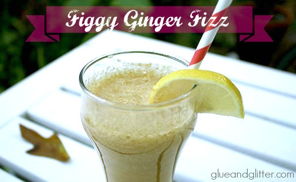 Figgy Ginger Fizz: Figs and Ginger Cocktail