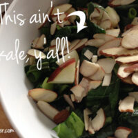 Food for Healthy Vegan Bones: Raw Collard Greens Salad