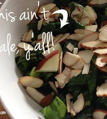 Food for Healthy Vegan Bones: Raw Collard Greens Salad